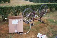 Het nieuwe achterwiel is zojuist per courier gearriveerd. Joepie!