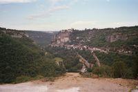De populaire bedevaartplaats Rocamadour