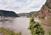 De Rijn bij de Loreley doorgang.