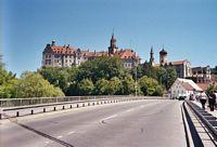 Het Sigmaringer Schloß aan de Donau.