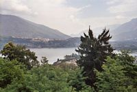 Zicht op het lager gelegen Lago di Caldonazzo.