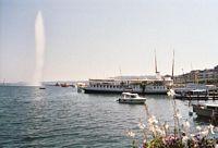 Genève met de bekende fontein.